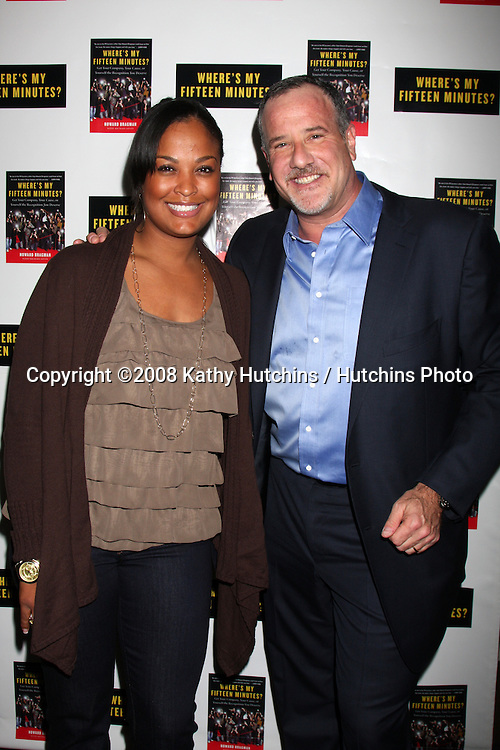 "Laila Ali & Howard Bragman.Howard Bragman's Book Party for ""Where's My Fifteen Minutes"" at the Chateau Marmont Hotel in West Los Angeles, CA on .January 14, 2009.©2008 Kathy Hutchins / Hutchins Photo..                ."