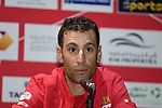 The 2019 UAE Tour Vincenzo Nibali (ITA) Bahrain Merida spoke to the media this afternoon in Louvre Abu Dhabi, United Arab Emirates. 23rd February 2019.<br />