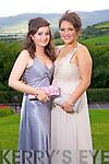 Eabhín Ní Eadhra and Cristín Ní Laocha, enjoying the Gael Choláiste Chiarraí debs at Ballyroe Heights hotel on Monday evening.