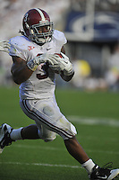 10 September 2011:  Alabama RB Trent Richardson (3) .LB Courtney Upshaw (41) QB A.J. AJ  McCarron (10)  Phillip Sims (14) The Alabama Crimson Tide defeated the Penn State Nittany Lions 27-11 at Beaver Stadium in State College, PA..