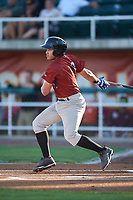 Idaho Falls Chukars Jose Marquez (13) at bat during a Pioneer League game against the Orem Owlz at The Home of the OWLZ on August 13, 2019 in Orem, Utah. Orem defeated Idaho Falls 3-1. (Zachary Lucy/Four Seam Images)