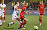 Portland, OR - Sunday Sept. 11, 2016: McCall Zerboni, Amandine Henry during a regular season National Women's Soccer League (NWSL) match between the Portland Thorns FC and the Western New York Flash at Providence Park.