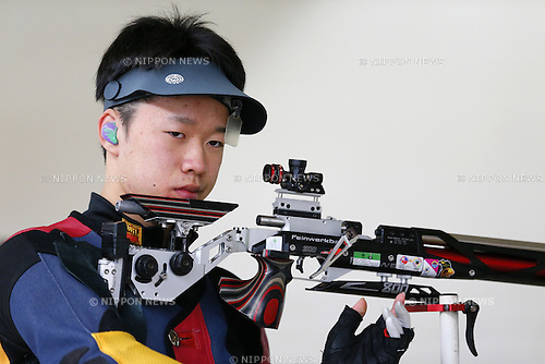Akihito Shimizu, MARCH 12, 2016 - Shooting - Rifle : All Japan Shooting Championship Men's 10m Air Rifle at Miyagi Shooting Range in Miyagi, Japan. (Photo by Yusuke Nakanishi/AFLO SPORT)