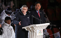 PYEONGCHANG,SOUTH KOREA,09.FEB.18 - OLYMPICS - Olympic Winter Games PyeongChang 2018, official opening ceremony. Image shows Thomas Bach, President of the International Olympic Committee and Lee Hee-beom, President and CEO of the Organizing Committee. Photo: GEPA pictures/ Andreas Pranter / Copyright : Explorer-media