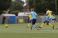 Joel Nouble has a chance during Haringey Borough vs Stanway Rovers, Emirates FA Cup Football at Coles Park Stadium on 25th August 2018