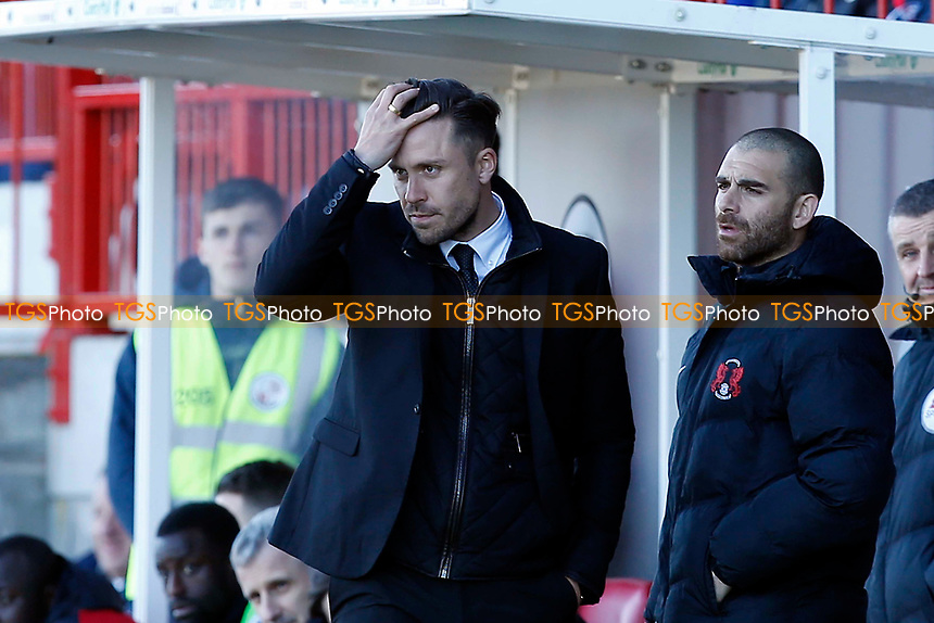 O's boss Danny Webb in the 2nd half - 3.0 down - during Crawley Town vs Leyton Orient, Sky Bet EFL League 2 Football at Broadfield Stadium on 25th March 2017