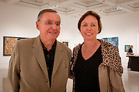 Donald Miller, Naples Art Critic and Ellin Goetz, The von Liebig Board at 'Cuba on My Mind' ribbon cutting ceremony, March 10, 2011. Photo by Debi Pittman Wilkey