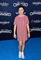 """LOS ANGELES, CA: 18, 2020: Mia Sinclair Jenness at the world premiere of """"Onward"""" at the El Capitan Theatre.<br /> Picture: Paul Smith/Featureflash"""