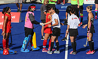 Umpires. Pro League Hockey, Vantage Blacksticks Women v China. Nga Puna Wai Hockey Stadium, Christchurch, New Zealand. Sunday 17th February 2019. Photo: Simon Watts/Hockey NZ