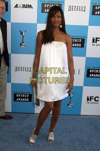 GARCELLE BEAUVAIS-NILON.2007 Film Independent's Spirit Awards at the Santa Monica Pier, Santa Monica, California, USA,.24 February 2007..full length white strapless dress.CAP/ADM/BP.©Byron Purvis/AdMedia/Capital Pictures.
