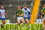 Keith Carmody Kerry controls the ball under pressure from Kevin Moran Waterford during their clash in Fitzgerald Stadium on Saturday