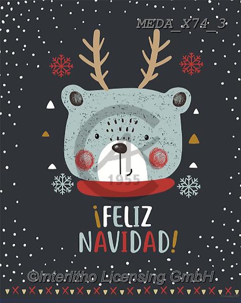 Dreams, CHRISTMAS ANIMALS, WEIHNACHTEN TIERE, NAVIDAD ANIMALES, paintings+++++,MEDAX74/3,#XA#