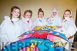 Zoe Vince, Saoirse Kelly, Sheila Breen, Tommy O'Sullivan and Nora Gross Members of KDYS with their graffiti art which they did in St Mary's parish hall on Monday