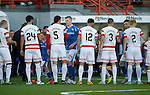 Hamilton Accies v St Johnstone...31.10.15  SPFL  New Douglas Park, Hamilton<br /> Saints skipper Brian Easton shakes hands with Accies boss Martin Canning before kick off<br /> Picture by Graeme Hart.<br /> Copyright Perthshire Picture Agency<br /> Tel: 01738 623350  Mobile: 07990 594431