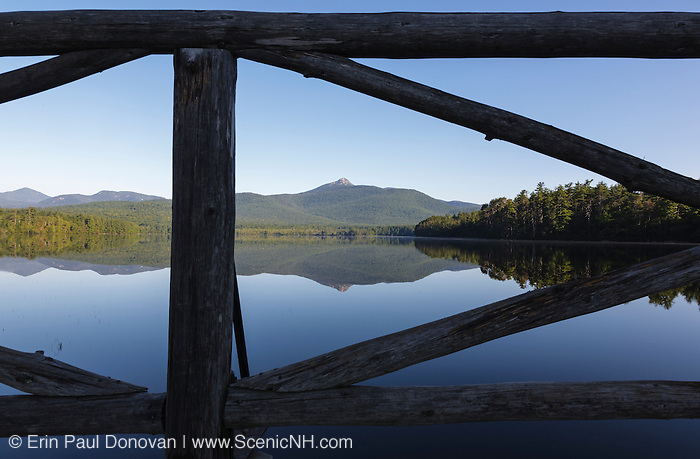 Mount Chocorua from Chocorua Lake in Tamworth, New Hampshire USA during the summer months.