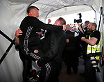 Chris Wilder manager of Sheffield Utd and Kevin Cookson celebrate during the English League One match at Sixfields Stadium Stadium, Northampton. Picture date: April 8th 2017. Pic credit should read: Simon Bellis/Sportimage