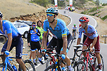 Omar Fraile (ESP) Astana Pro Team on the final Cat 1 climb up to Observatorio Astrofisico de Javalambre during Stage 5 of La Vuelta 2019 running 170.7km from L'Eliana to Observatorio Astrofisico de Javalambre, Spain. 28th August 2019.<br /> Picture: Eoin Clarke | Cyclefile<br /> <br /> All photos usage must carry mandatory copyright credit (© Cyclefile | Eoin Clarke)