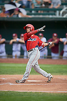 Will Wilson (21) of the Orem Owlz at bat against the Idaho Falls Chukars at Melaleuca Field on July 14, 2019 in Idaho Falls, Idaho. The Owlz defeated the Chukars 6-2. (Stephen Smith/Four Seam Images)