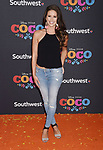 LOS ANGELES, CA - NOVEMBER 08: Model/TV host Nia Sanchez arrives at the premiere of Disney Pixar's 'Coco' at El Capitan Theatre on November 8, 2017 in Los Angeles, California.