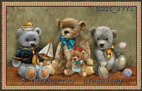 GIORDANO, CUTE ANIMALS, LUSTIGE TIERE, ANIMALITOS DIVERTIDOS, Teddies, paintings+++++,USGI2771,#AC# teddy bears