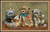 GIORDANO, CUTE ANIMALS, LUSTIGE TIERE, ANIMALITOS DIVERTIDOS, Teddies, paintings+++++,USGI2771,#AC# teddy bears