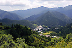 Nestled amid lush mountains, Kamikatsu Town in Shikoku, Japan. Kamikatsu has a population of 2,009.