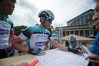 Allesandro Petacchi (ITA) signing in<br /> <br /> 1st Brussels Cycling Classic<br /> Brussels - Brussels: 197km