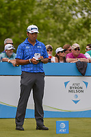 Hideki Matsuyama (JPN) looks over his tee shot on 1 during the round 1 of the AT&T Byron Nelson, Trinity Forest Golf Club, Dallas, Texas, USA. 5/9/2019.<br /> Picture: Golffile | Ken Murray<br /> <br /> <br /> All photo usage must carry mandatory copyright credit (© Golffile | Ken Murray)