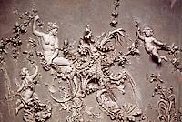 Wurzburg: Residence--detail of plasterwork on ceiling of the White Room. Photo '87.