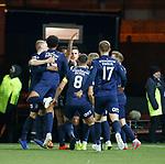 12.02.2020 Kilmarnock v Rangers: Eamonn Brophy scores for kilmarnock amnd is mobbed by his team mates