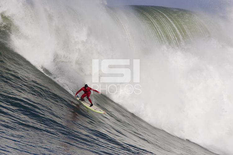 Peter Mel. Mavericks Surf Contest in Half Moon Bay, California on February 13th, 2010.