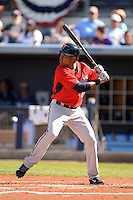 Infielder Jorge Polanco (78) of the Minnesota Twins during a spring training game against the Tampa Bay Rays on March 2, 2014 at Charlotte Sports Park in Port Charlotte, Florida.  Tampa Bay defeated Minnesota 6-3.  (Mike Janes/Four Seam Images)