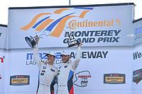 IMSA WeatherTech SportsCar Championship<br /> AMERICA'S TIRE 250<br /> Mazda Raceway Laguna Seca<br /> Monterey, CA USA<br /> Sunday 24 September 2017<br /> 24, BMW, BMW M6, GTLM, John Edwards, Martin Tomczyk<br /> World Copyright: Richard Dole<br /> LAT Images<br /> ref: Digital Image RD_LS_17_302