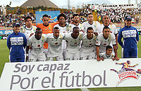 BOGOTA -COLOMBIA, 20 -SEPTIEMBRE-2014. Formacion  de La Equidad  contra Once Caldas durante partido de la  decima  fecha  de La Liga Postobón 2014-2. Estadio Metroplitano de Techo . / Team  of La Equidad  against  Once Caldas  during tenth game of the La Liga Postobón date 2014-2. Metropolitano de Techo  Stadium . Photo: VizzorImage / Felipe Caicedo / Staff