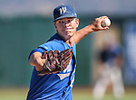 Wildcats' Chase Kaplan pitches against College of Southern Nevada during a game at Western Nevada College in Carson City, Nev., on Thursday, March 26, 2015. <br /> Photo by Cathleen Allison/Nevada Photo Source