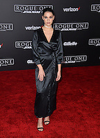 Actress Maia Mitchell at the world premiere of &quot;Rogue One: A Star Wars Story&quot; at The Pantages Theatre, Hollywood. <br /> December 10, 2016<br /> Picture: Paul Smith/Featureflash/SilverHub 0208 004 5359/ 07711 972644 Editors@silverhubmedia.com