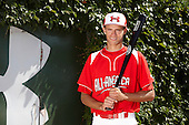 Outfielder / Pitcher Trey Ball (33) poses for a photo before the Under Armour All-American Game at Wrigley Field on August 18, 2012 in Chicago, Illinois.  (Copyright Mike Janes Photography)