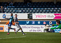 Myles Weston of Wycombe Wanderers shoots during the Sky Bet League 2 match between Wycombe Wanderers and Notts County at Adams Park, High Wycombe, England on the 25th March 2017. Photo by Liam McAvoy.