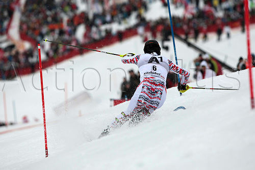 22.01.2012. Kitzbuehel, Austria. Mario MATT (AUT) competing during the first run of the Alpine Ski World Cup Hahnenkamm Slalom