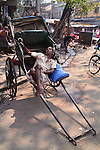 Kolkata is one of the last places on earth for hand-pulled rickshaws. Rickshaw wallahs work extremely hard for low pay. Fares rise along with the  monsoon floodwaters as rickshaws are the best form of local transport.