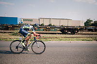 Guillaume Van Keirsbulck (BEL/Wanty-Groupe Gobert) on his way to an impressive solo victory<br /> <br /> Antwerp Port Epic 2018 (formerly &quot;Schaal Sels&quot;)<br /> One Day Race:  Antwerp &gt; Antwerp (207 km; of which 32km are cobbles &amp; 30km is gravel/off-road!)