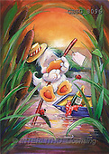 Ron, CUTE ANIMALS, Quacker, paintings, duck, bl.boat(GBSG8096,#AC#) Enten, patos, illustrations, pinturas
