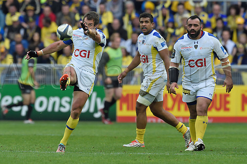 18.04.2015. Clermont-Ferrand, Auvergne, France. Champions Cup rugby semi-final between ASM Clermont and Saracens.   Brock James (asm)