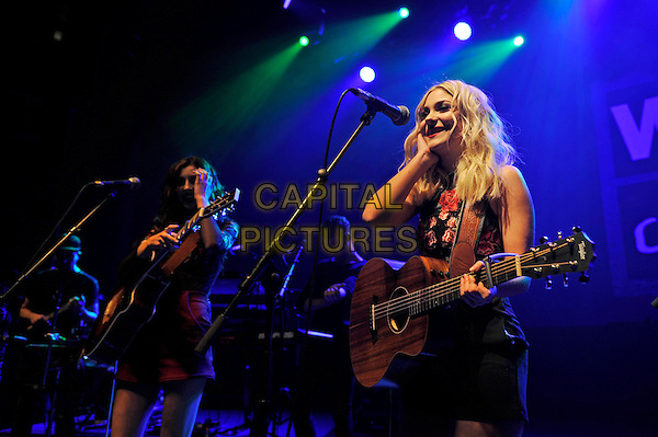 LONDON, ENGLAND - FEBRUARY 14: C&aacute;ra Beard and Abby Inez of 'Darline' performing for 'War Child' at Shepherd's Bush Empire on February 14, 2017 in London, England.<br /> CAP/MAR<br /> &copy;MAR/Capital Pictures