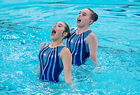Picture by Allan McKenzie/SWpix.com - 25/11/2017 - Swimming - Swim England Synchronised Swimming National Age Group Championships 2017 - GL1 Leisure Centre, Gloucester, England - Aimee Hodges & Aimee Lawrence.