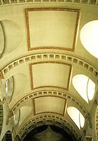 Sir Christopher Wren: St. Bride, Fleet St., London. Ceiling with tunnel vault.