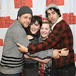"Joe Tippett, Isabelle Fuhrman, Abigail Breslin, and Alex Wolff attends the New Group's ""All the Fine Boys"" rehearsal photocall at their rehearsal studio on February 3, 2017 in New York City."