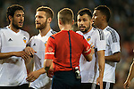 Valencia's Daniel Parejo, Shkodran Mustafi, Javi Fuego, Joao Cancelo  during La Liga match. October 17, 2015. (ALTERPHOTOS/Javier Comos)