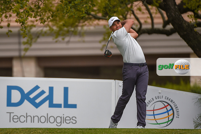 Jason Day (AUS) watches his tee shot on 1 during day 3 of the WGC Dell Match Play, at the Austin Country Club, Austin, Texas, USA. 3/29/2019.<br /> Picture: Golffile | Ken Murray<br /> <br /> <br /> All photo usage must carry mandatory copyright credit (© Golffile | Ken Murray)