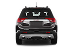 Straight rear view of 2017 GMC Acadia SLT-1-FWD 5 Door SUV Rear View  stock images